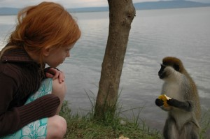 leah and monkey